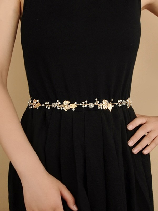 Women's Lovely Metal Sashes With Rhinestones