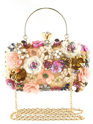 Pretty Satin 3D Flowers Casual Evening Party Wedding Bags