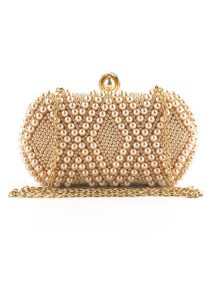 Graceful Evening Party Wedding Handbags With Pearl