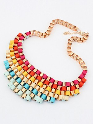 Occident Hyperbolic Colorful Stylish Street shooting All-match Necklace