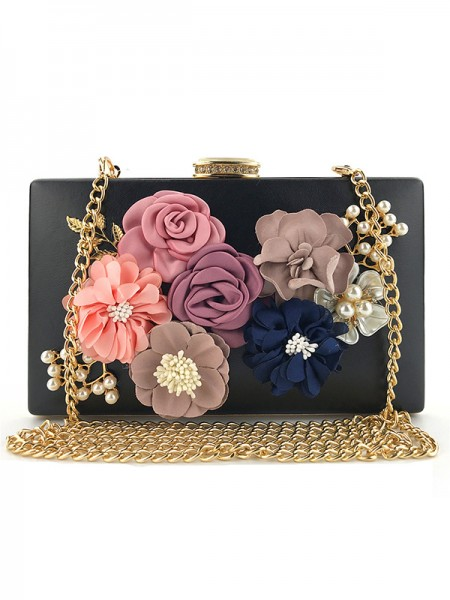 Casual PU 3D Floral Evening Party Wedding Bags