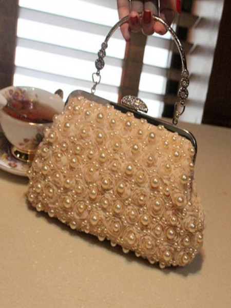 Attractive Women's Evening/Party Handbags With Pearl