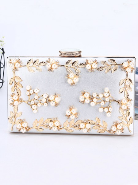 Women's PU Evening/Party Handbags With Beading