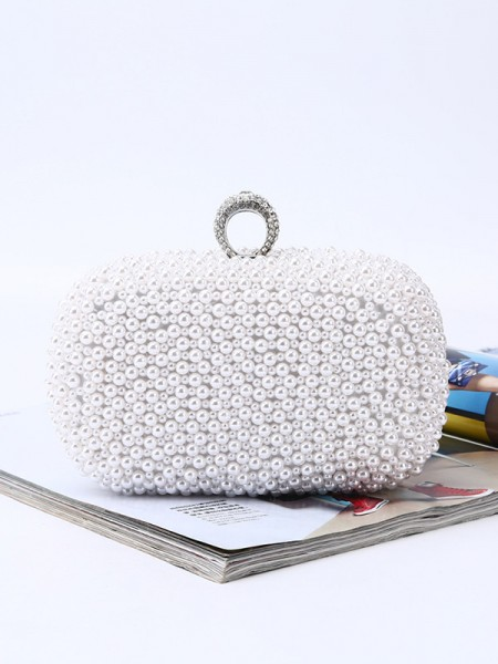 Trending Wedding Evening Party Handbags With Pearl