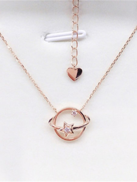 925 Sterling Silver Women's Necklaces With Universe