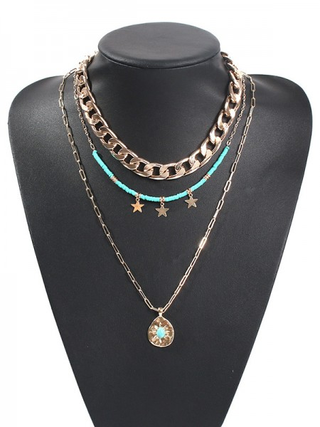 Hot Sale Pretty Alloy With Star Women's Necklaces
