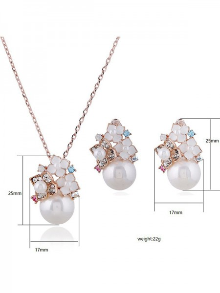 Women's Jewelry Set New Alloy With Pearl