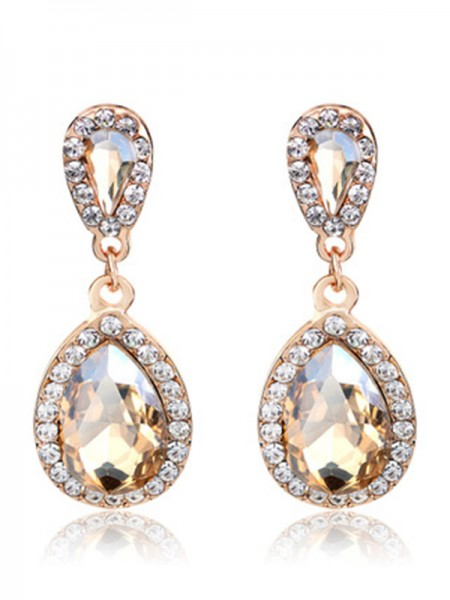 Women's Vintage Alloy With Rhinestone Earrings