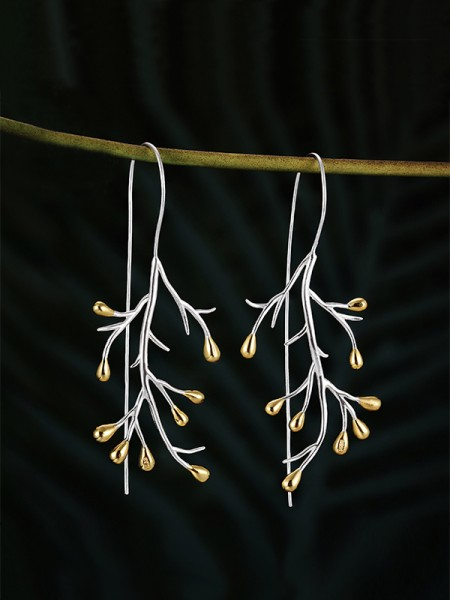 Ladies's Fashion Tree 925 Sterling Silver Earrings
