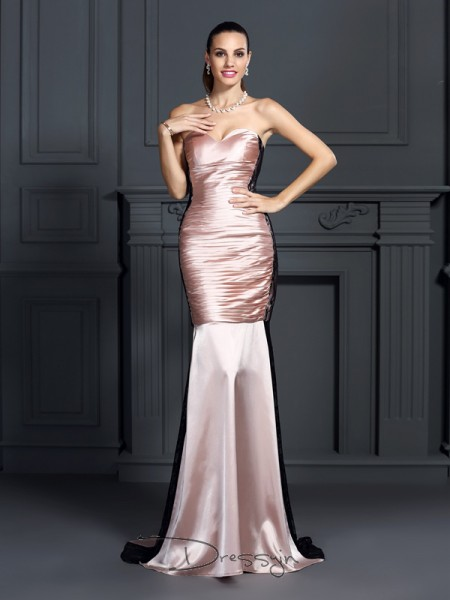 Trumpet/Mermaid Sweetheart Sleeveless Taffeta Long Dress