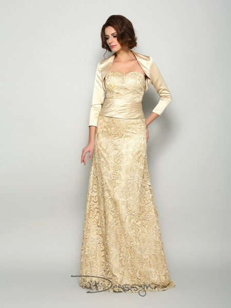 A-Line/Princess Sweetheart Sleeveless Satin Long Mother of the Bride Dresses