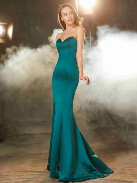 Trumpet/Mermaid Sweetheart Sleeveless Ruched Satin Long Dress