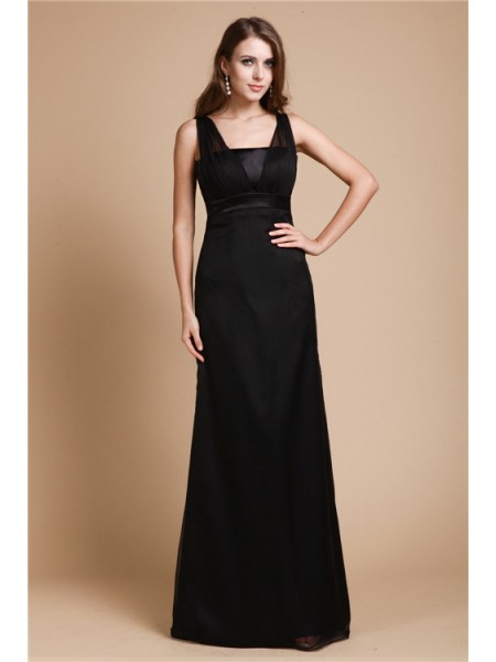 Sheath/Column Straps Sleeveless Sash/Ribbon/Belt Chiffon Long Dress