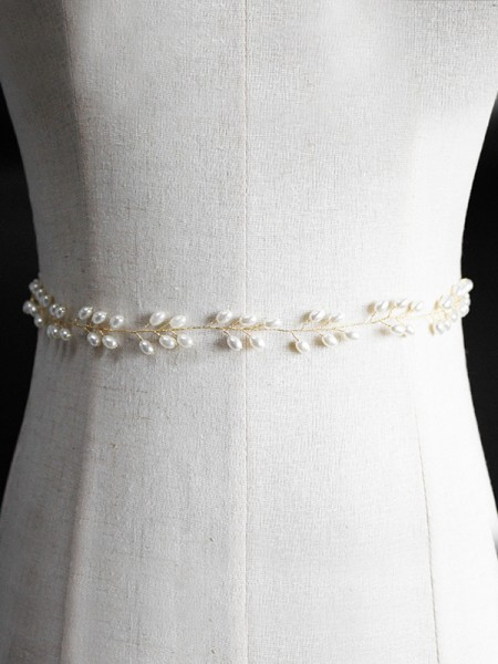 Women's Simple Metal Sashes With Imitation Pearls