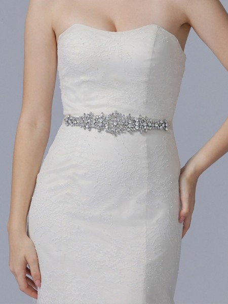 Women's Charming Cloth Sashes With Rhinestones