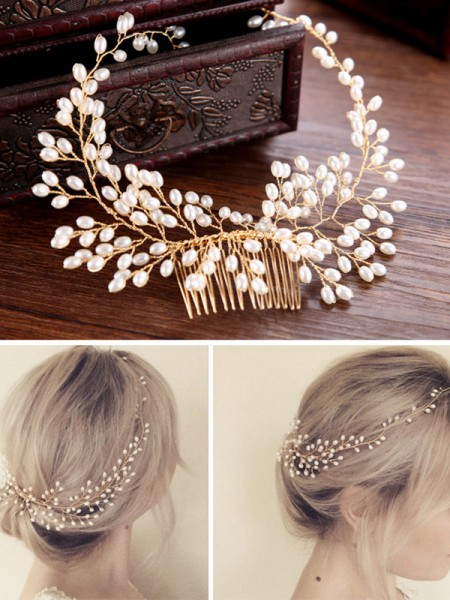 Pretty Czech Pearl Wedding Headpieces