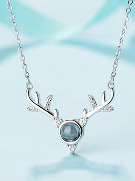 S925 Silver With Antler Women's Necklaces
