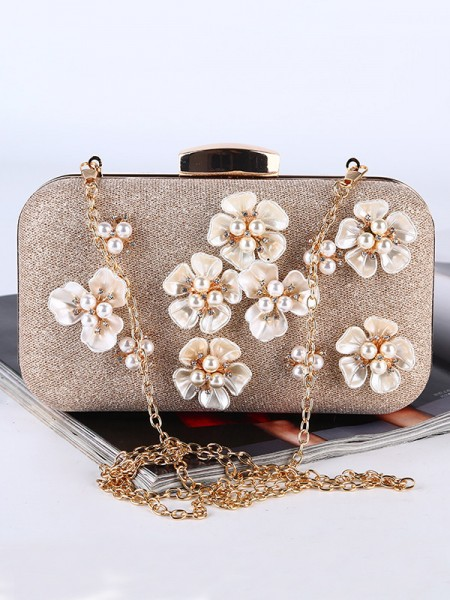 Pretty Wedding/Party 3D Flowers Handbags With Pearl