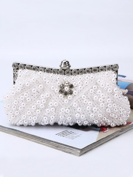 Fashion Women's Evening Party Handbags With Pearl