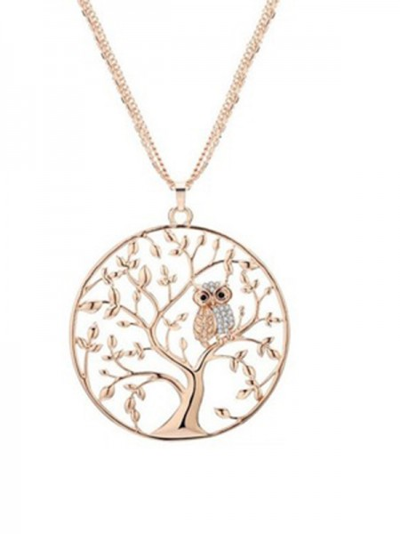 Beautiful Women's Alloy Necklaces With Tree