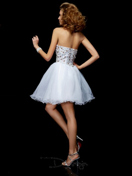 Sheath/Column Sleeveless Sweetheart Crystal Elastic Woven Satin Short Dress