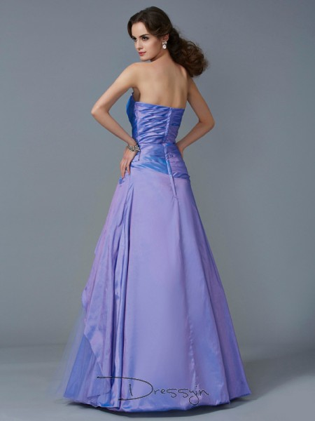 Trumpet/Mermaid Sleeveless Strapless Beading Taffeta Floor-Length Dress