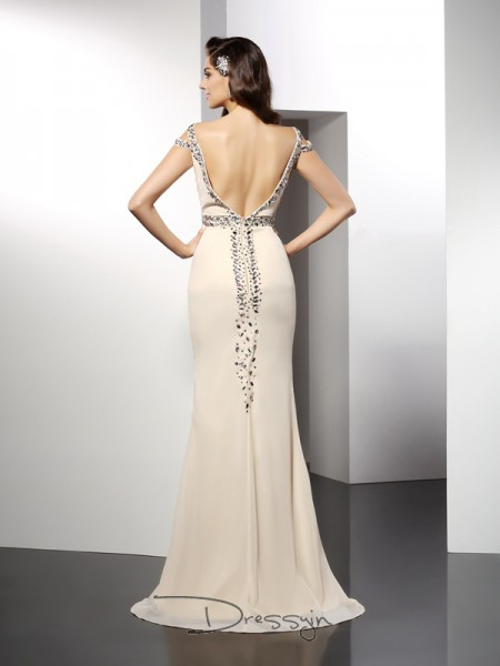 Trumpet/Mermaid Sweetheart Sleeveless Chiffon Long Dress