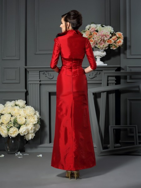 Taffeta 1/2 Sleeves Hand-Made Flower Special Occasion Wrap