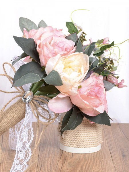 Free-Form Artificial Flower Beautiful Bridal Bouquets
