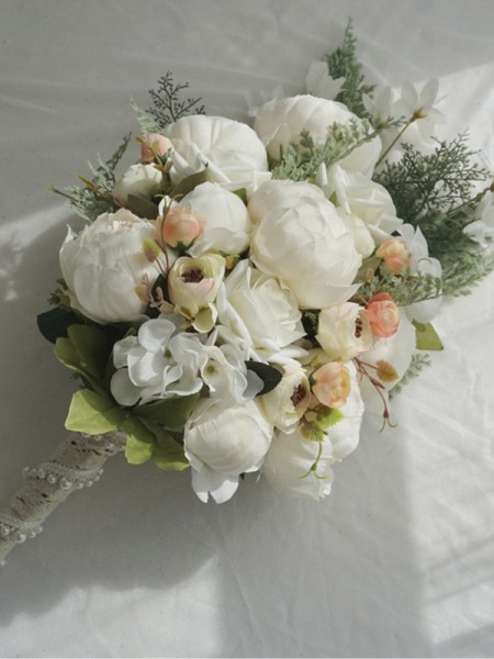 Cascade Silk Flower Charming Bridal Bouquets