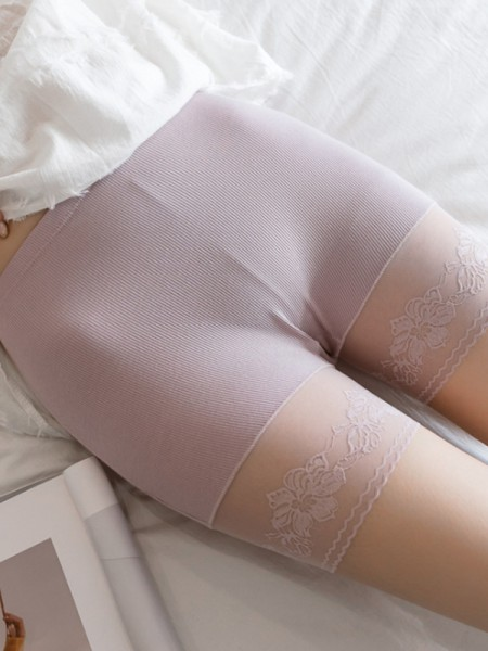 Lace Seamless Women's Elastic Safety Pants/Safety Shorts