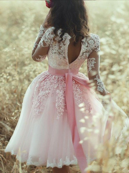 A-Line/Princess Sweetheart Sleeveless Short Tulle Dress