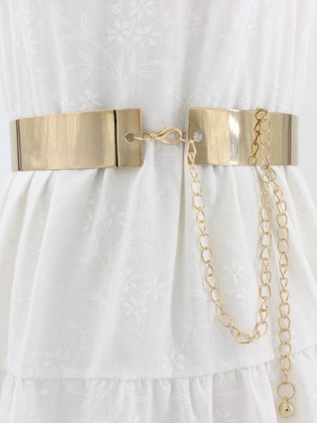 Fashion Bridal Belt Metal Sashes With Chain