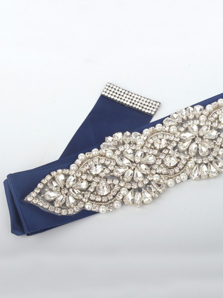 Women's Gorgeous Cloth Sashes With Rhinestones/Imitation Pearls