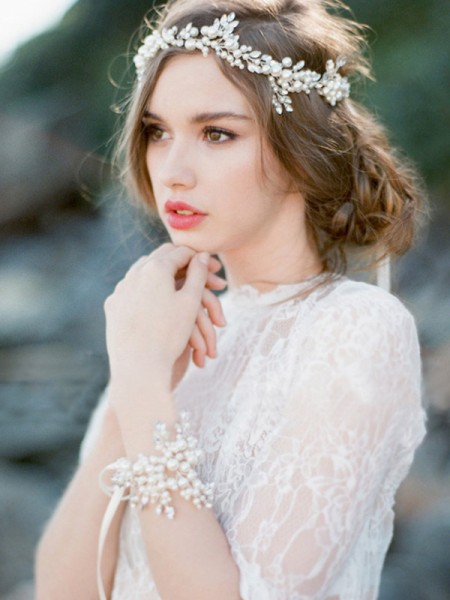 Brilliant Czech Pearl Wedding Headpieces